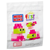 Mega Bloks 81306 First Builders 8pc Maxi Blocks Starter Bag - Pink