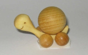 Wooden Turtle With Beech Wood Ball 2cm Rolling Animal Pull Behind Rollies 4080