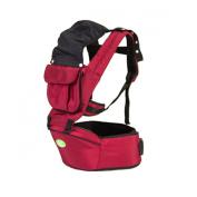 AUBIG Comfort Front Back Baby Carrier Infant Shoulder Backpacks Sling Wrap With Hip Seat - Dark Red