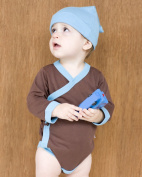 Baby Soy All-Natural Kimono Bodysuit, Chocolate, 3-6 Months