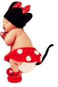 UJOY Newborn Infant Cute Mickey Style Crochet Knitted Photo Prop Costume