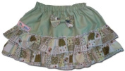 Baby Rara Skirt - Green With Green Patchwork Small