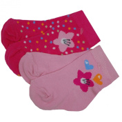 EBI & EBI - baby-girls socks, pink, 2 different colours