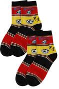 Weri Spezials 2 Pairs Unisex-Kids 7:1 Fan Sock Fantastic football history! Black/Red/Gold
