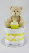 Yellow Single One Tier Unisex Nappy Cake Baby Shower New Baby Gift