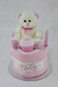 Baby Girl Single One Tier Nappy Cake Baby Shower New Baby Gift
