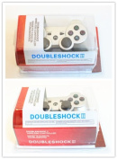 HPP Inc. 2 X Double Shock 6 Axis Wireless Bluetooth Sony PS3 Game Controller - SILVER