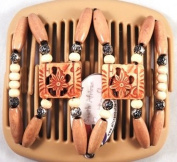 African Butterfly hair clip Dupla 2121 11cm Blonde comb