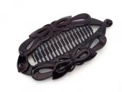 Black Banana Fish Clip Hair Clip Hair Grip Claw Wide Butterfly design 14 cms