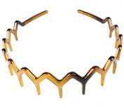 tortoiseshell plastic zig zag wide tooth aliceband headband