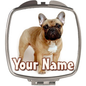 Personalised Fawn French Bulldog Compact Mirror