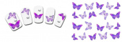 Nail Art Water Butterfly Water Nail Art Decal / Tattoo / Sticker