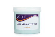Wax It 450g Aloe Vera and Tea Tree Cream Wax