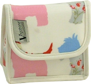 Vagabond Scottie Dog Oil Cloth Mirror Cosmetic Toiletries Bag