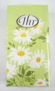 Pack of 10 Paper Pocket Tissues Daisy Meadow green