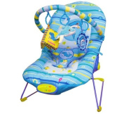 Baby Rocker Bouncer Reclining Chair Soothing Music Viberation Toys IN BLUE