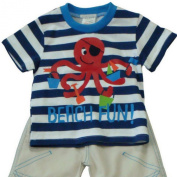 Baby Boys 3- 12 Months 2 Piece Set, Octopus Print Top with Trousers