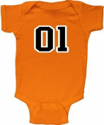 Dukes of Hazzard 01 General Lee Baby Infant Romper Onesie