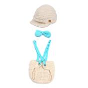 JTC Newborn Hat Girl Boy Cap Crochet Knit Beanie Baby Costume Clothing Set Infant Photo Photography Prop Outfit Snail Fox Bee Dinosaur 5 Style 0-12M