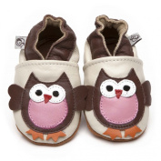 Soft Leather Baby Shoes Owl 3-4 years