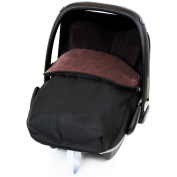 iSafe Buddy Jet Carseat Footmuff - Hot Chocolate