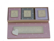East Of India - Baby Triple Keepsake Box Set - Pink
