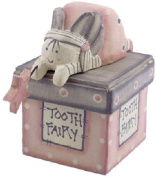 East of India Wooden Tooth Fairy Box - Pink