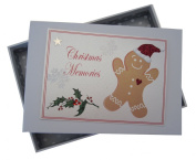 White Cotton Cards Christmas Memories Ginger Bread Man Range Tiny Photo Album