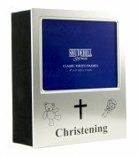 Deluxe Christening Photo Album Gift - Space for Photo on Front HOLDS 72 Photos 40112