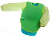 Bibetta Baby Bib Neoprene Ultrabib with sleeves in Green