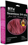 BiYa Hair Elements Thermatt Clip In Half 3/4 Wig Hair Extensions Natrual Wave, Wine Red Number A39 60cm