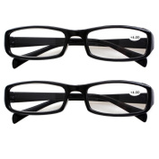 Southern Seas 2 Pairs (Black Frame) Womens Mens Durable Reading Glasses Strength +400 New