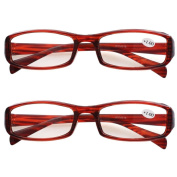 Southern Seas 2 Pairs (Tortoise) Womens Mens Everyday Reading Glasses Spectacles Strength +100