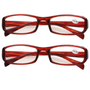 Southern Seas 2 Pairs (Tortoise) Womens Mens Everyday Reading Glasses Spectacles Strength +350