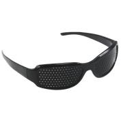 Accessotech Black Eyesight Improvement Vision Care Exercise Eyewear Pinhole Glasses Training