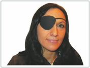 Eye Patch Eye Protection Blindfold, black with Rubber Band