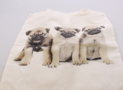 Pug Dog Puppies Shoulder - Shopping Bag