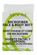 Moom Spa Collection, Microfiber Face and Body Mitt, 5x7.25 Inches / 12.5 X 19 Cm