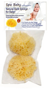 """Spa Baby Natural Bath Sponge! Especially Selected for Your Baby! by Spa Destinations®. SAVE 35% On Our Exclusive TWO (2) PACK!!! Create The """"Perfect Bath"""" For Your Baby! 100% TOTAL SATISFACTION GUARANTEE or Your Money Back! Also the """"Perfect Gift"""" for .."""