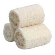 Pack of 3 Bath Body Shower Natural Loofah Sponge Scrubber