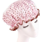 Fashion Design Stylish Reusable Shower cap with Beautiful pattern and colour (Pink