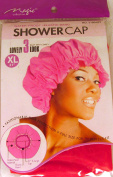 XL X-Large Shower Cap in Red, Could Also Be Used in Deep Hair Conditioning, Hair Protection, Full Size 50cm Extra Large Water-Proof Shower Cap with Comfortable Elastic Band