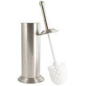 Toilet Brush & Canister, Brushed Nickel w/ Plastic Drip Tray Included