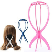 Sunny-business Folding Stable Durable Wig Hair Cap Holder Stand Holder Display Rack 3 Pcs