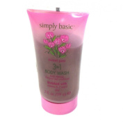 Simply Basic Travel Size 60ml Sweet Pea 3-in-1 Body Wash