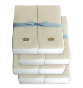 Disposable Guest Hand Towels with Ribbon - Embossed with a Gold Crown - 200ct