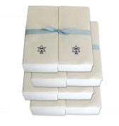 Disposable Guest Hand Towels with Ribbon - Embossed with a Menorah/star of David - 200ct