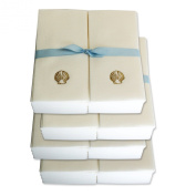 Disposable Guest Hand Towels with Ribbon - Embossed with a Gold Shell - 200ct