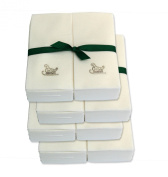 Disposable Guest Hand Towels with Ribbon - Embossed with a Silver Sleigh - 200ct