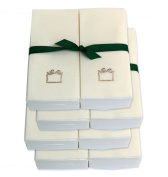 Disposable Guest Hand Towels with Ribbon - Embossed with a Silver Gift - 200ct